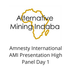 Amnesty International AMI Presentation High Panel Day 1